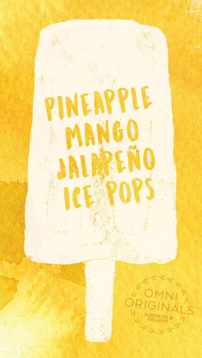 Pineapple Mango Jalapeno Ice Pop graphic
