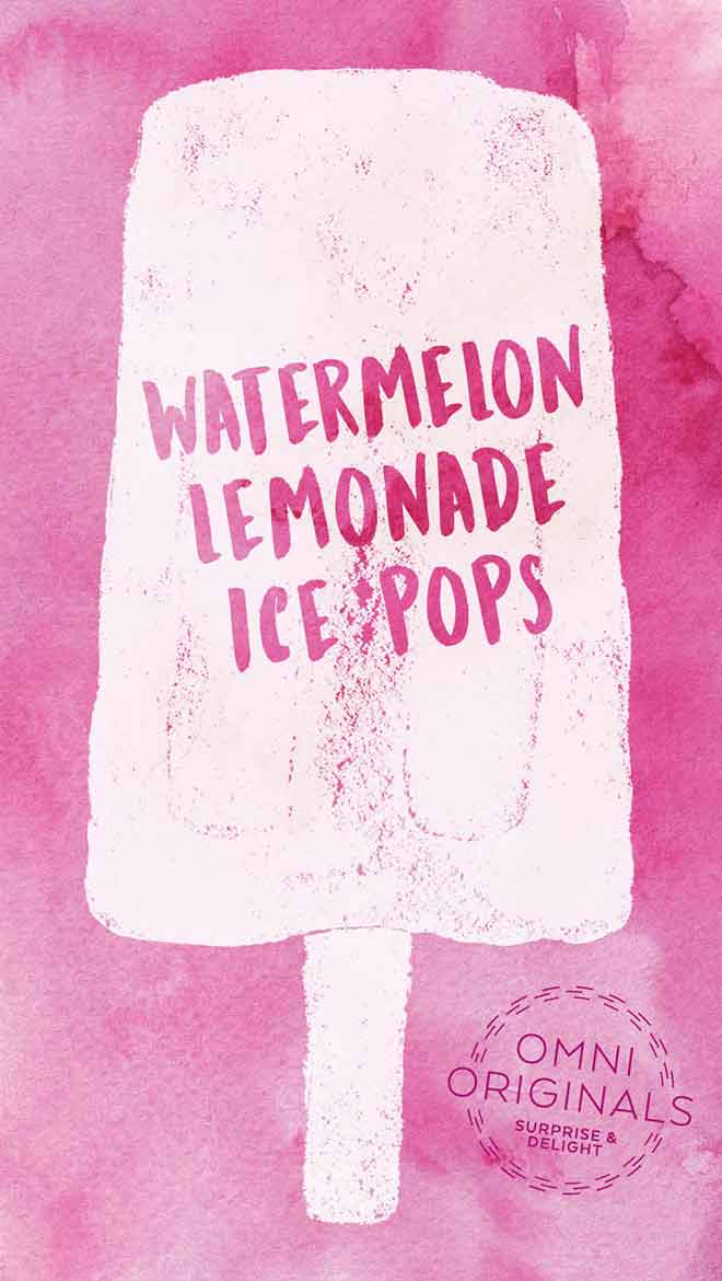 Watermelon Lemonade Ice Pop