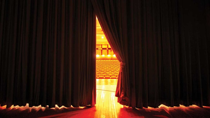 Decorative image - theater curtain