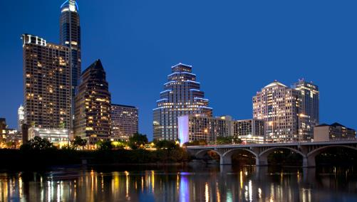 Downtown Austin at night
