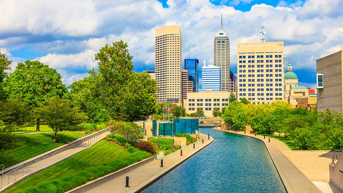 Decorative image - Indianapolis skyline