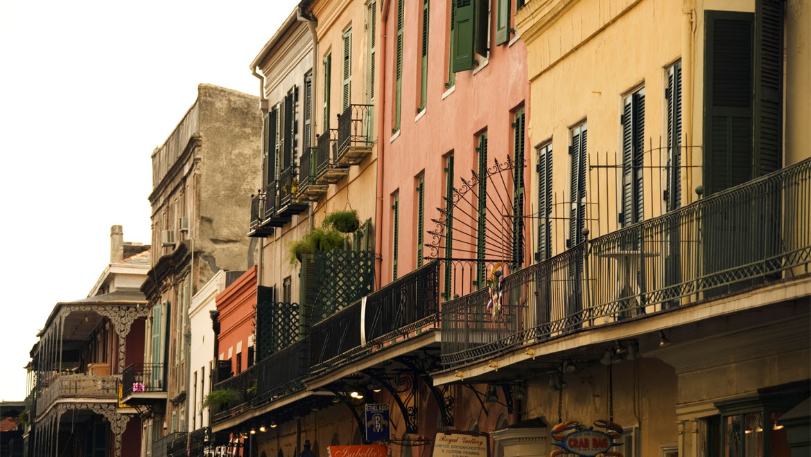 New Orleans balconies