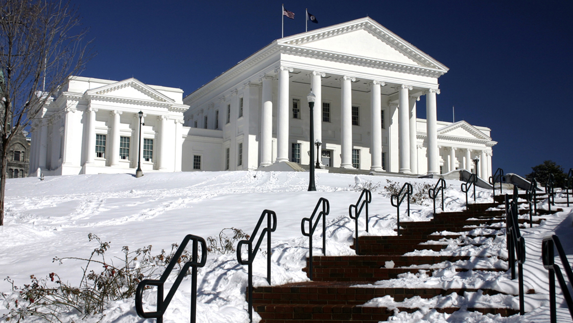 Virginia State Capital in winter