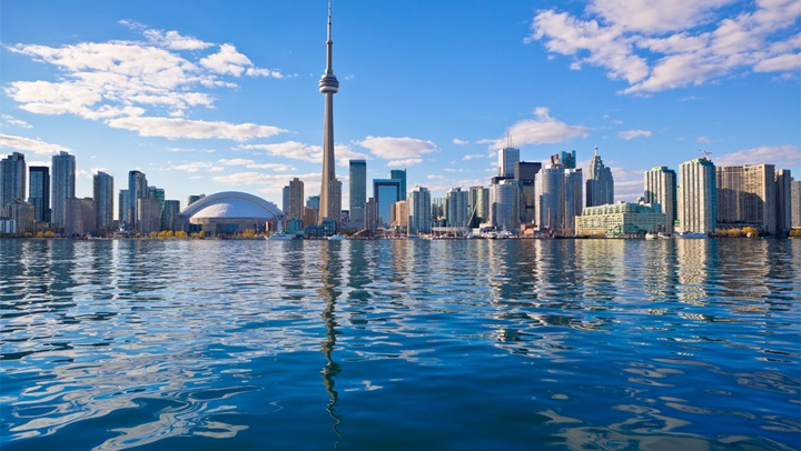 Toronto skyline with water