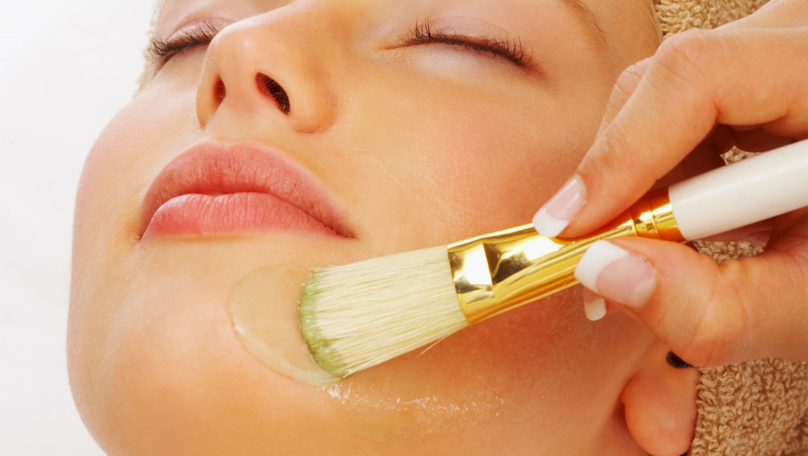 Facial with brush