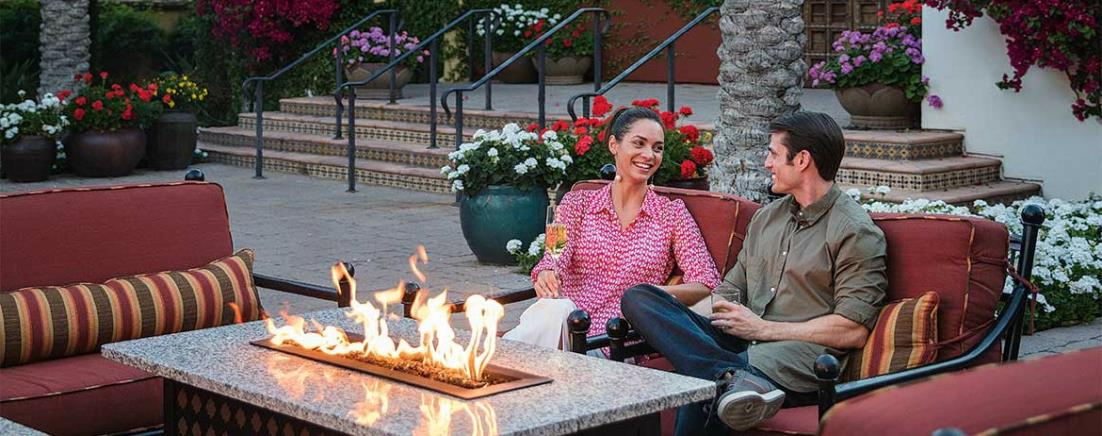 Couple at firepit