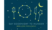 Say Goodnight to Hunger. Book a stay. Feed a family.
