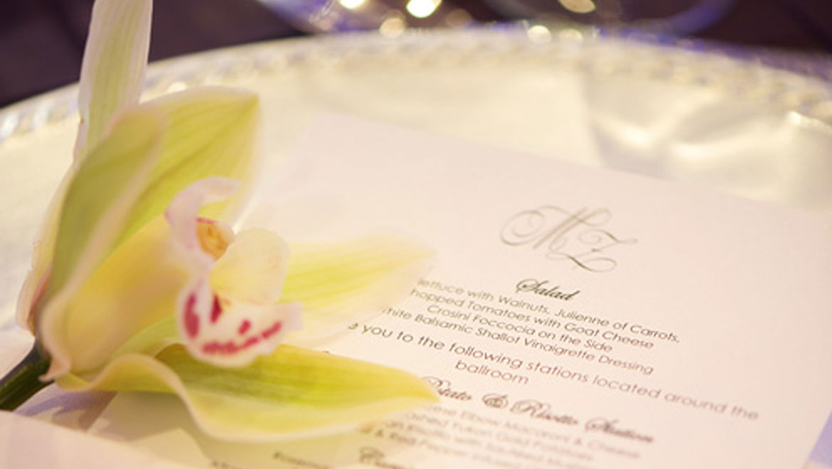 Orchid on menu