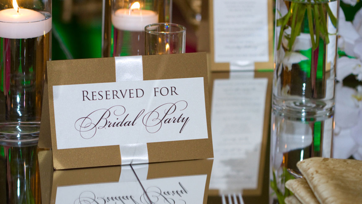 Reserved for Bridal Family
