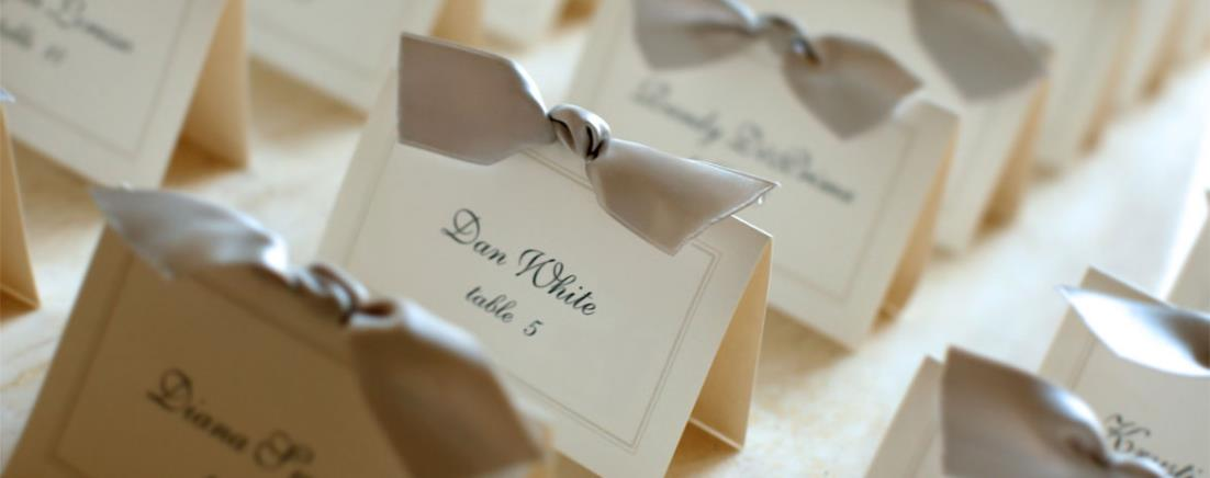 Name tags for wedding reception