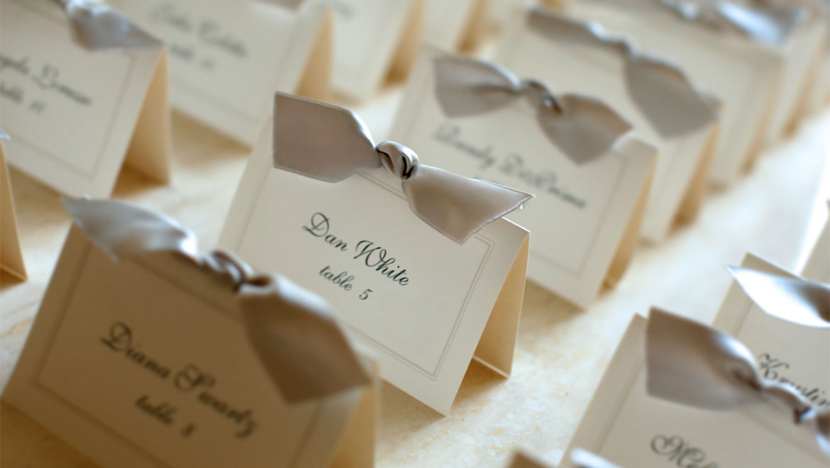 Richmond wedding packages omni richmond hotel for Design table name cards