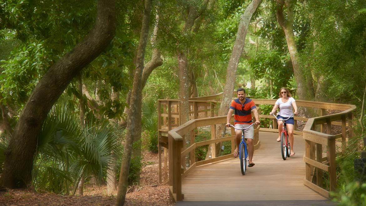 Biking at Omni Amelia Island Resort