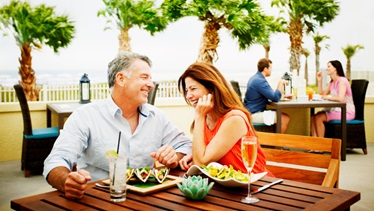 Couple dining at Omni Amelia Island Resort