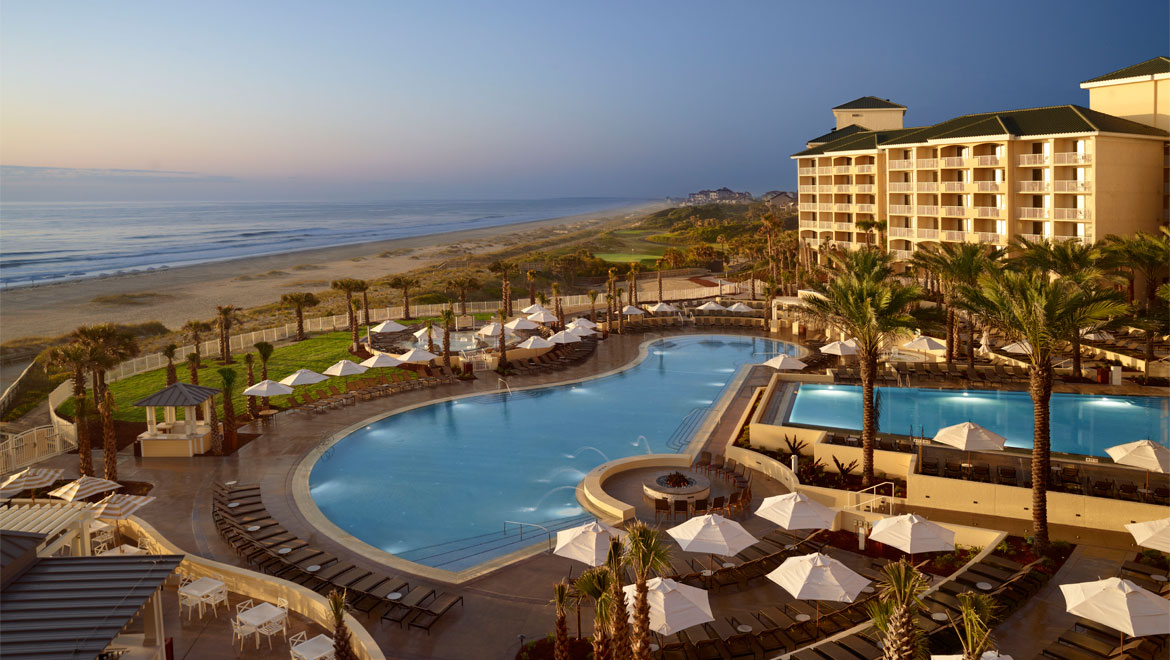 Resort pool at Amelia Island