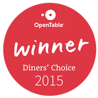 Open Table Diner's Choice 2015