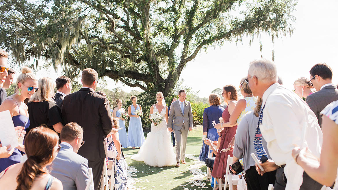 Oak Point Lawn Wedding
