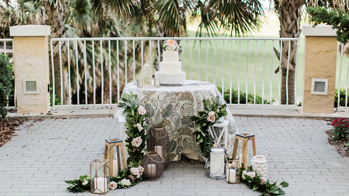 Wedding Reception on Oceanview Terrace