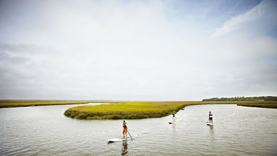Paddleboarding in the Intracoastal Waterway