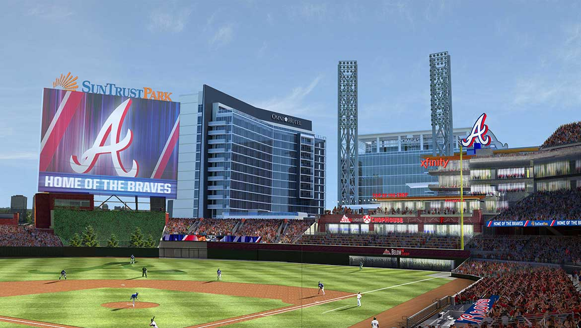 Suntrust Park with Omni Hotel at the Battery Atlanta