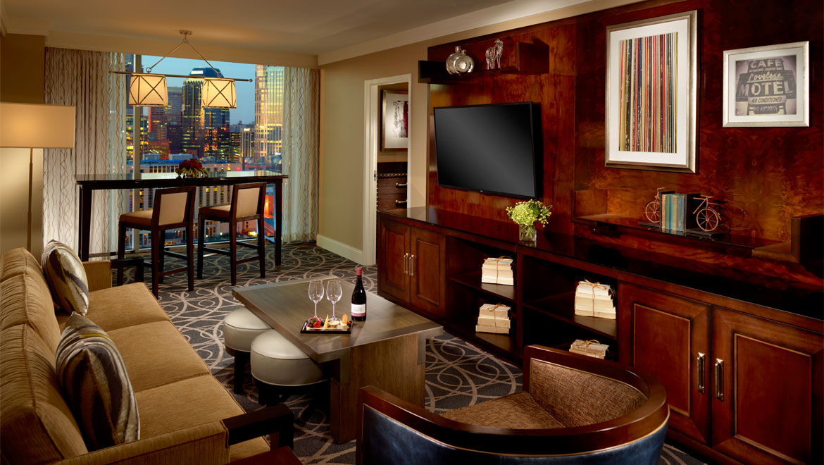 : Luxury Suite at Omni Nashville Hotel