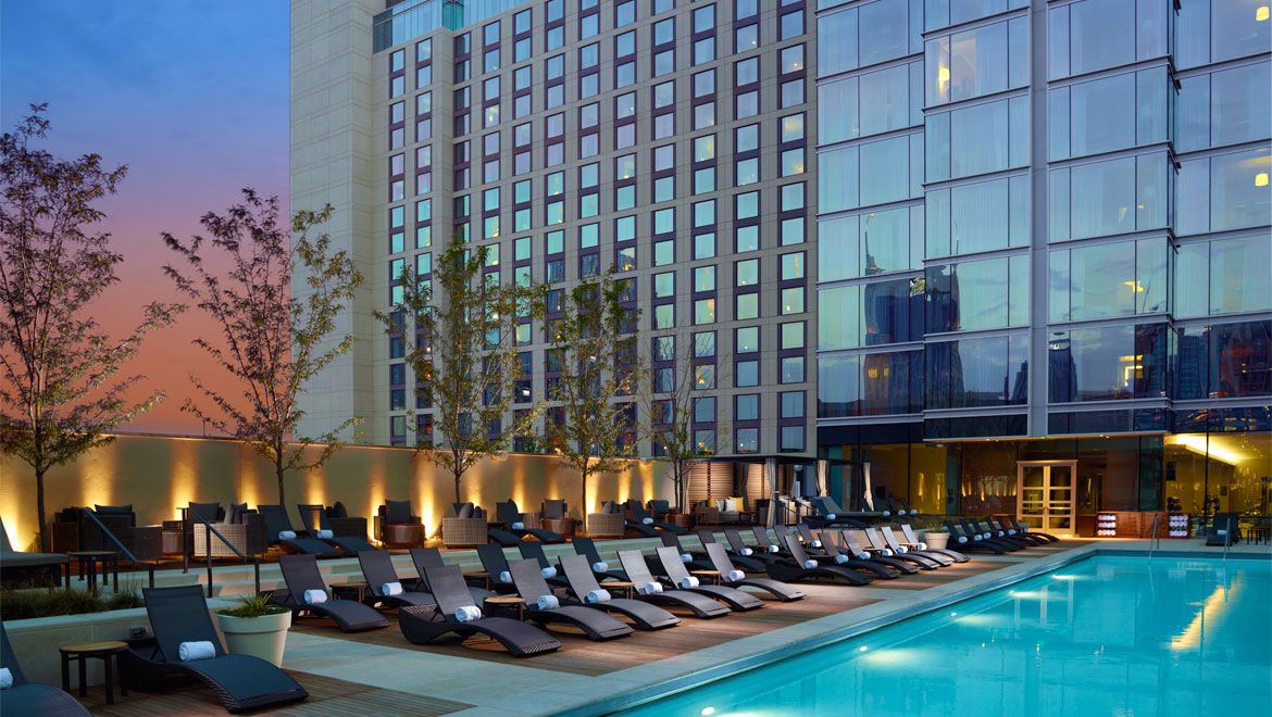 Good A True Oasis In The Center Of Nashville, Our Rooftop Swimming Pool And  Whirlpool Offer Stunning Views Of The Downtown Skyline And Feature A Lounge  Deck, ...