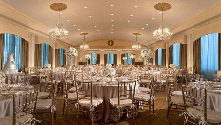 Rooftop Ballroom Wedding Reception