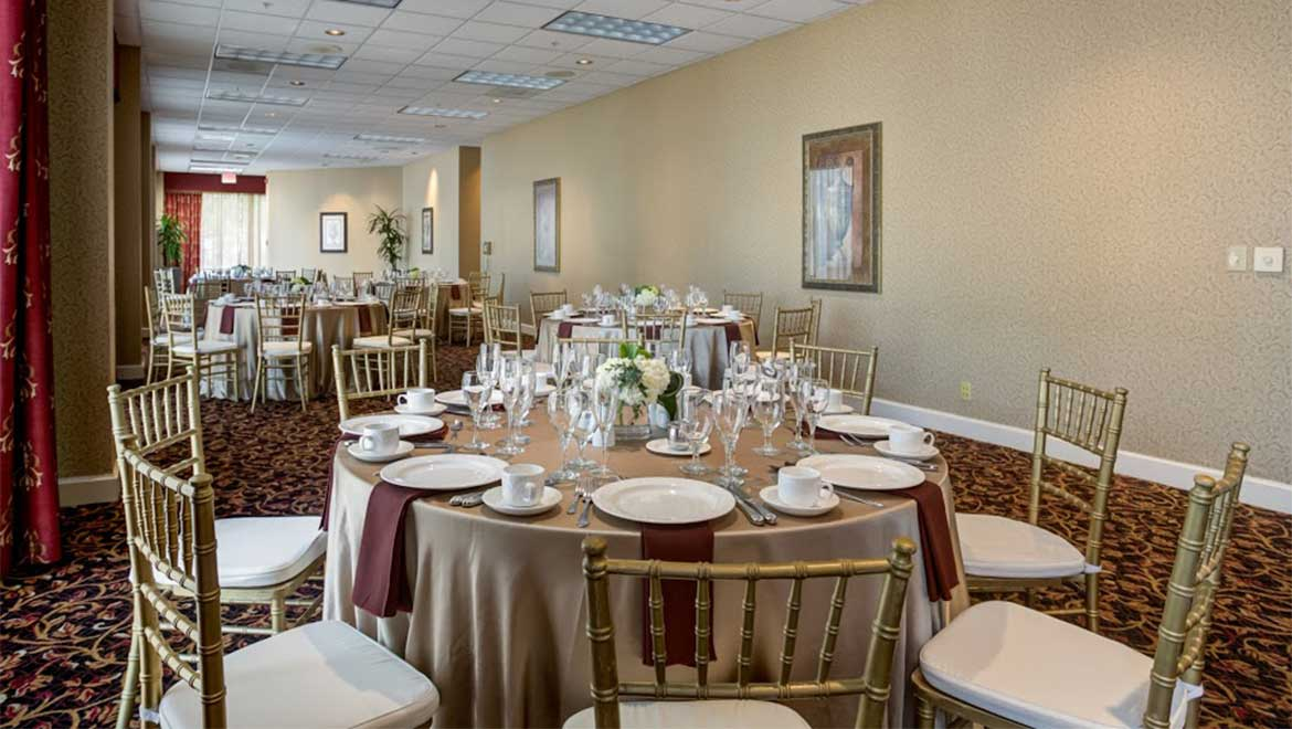 Preston Room wedding reception