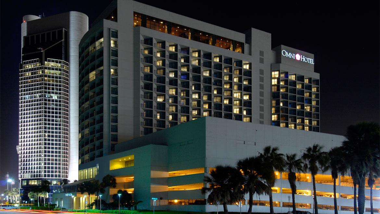 Omni Corpus Christi Hotel at Night