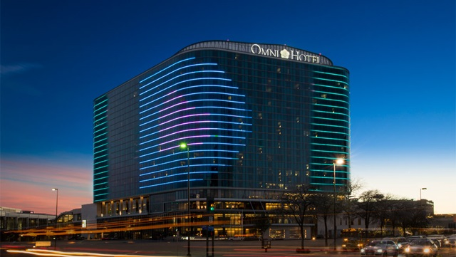 Omni Dallas Hotel at Night