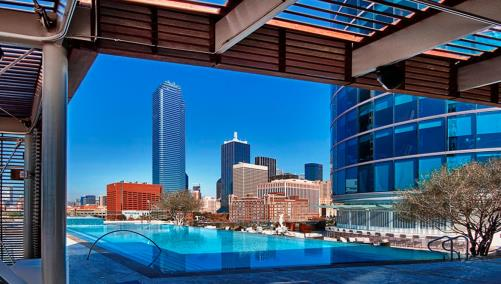 Downtown Dallas Rooftop Pool