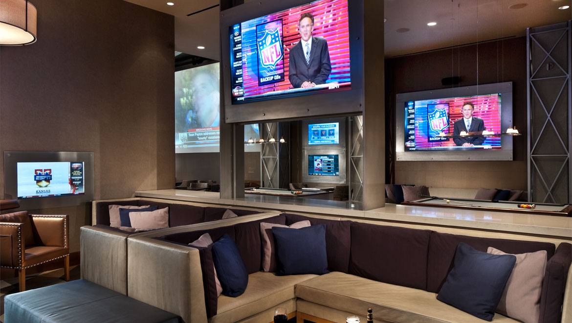 Lounge area at The Owner's Box