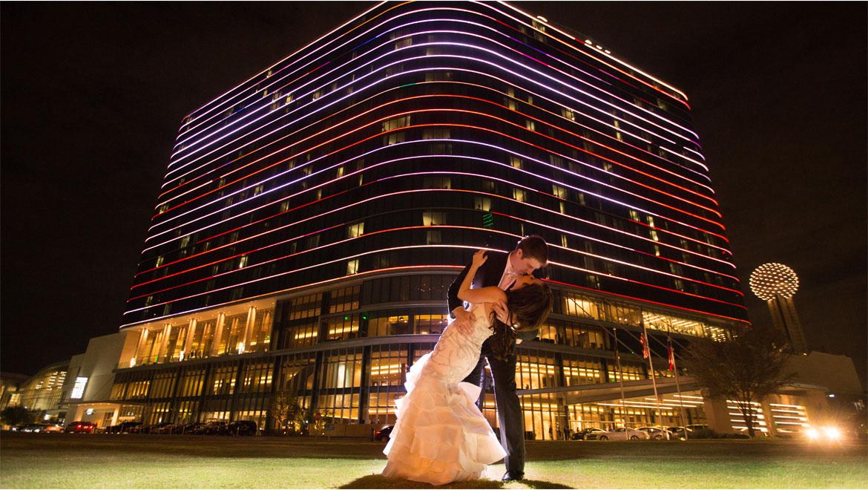 Emby Suites Dallas Market Center Hotel Tx Pink Wedding Reception