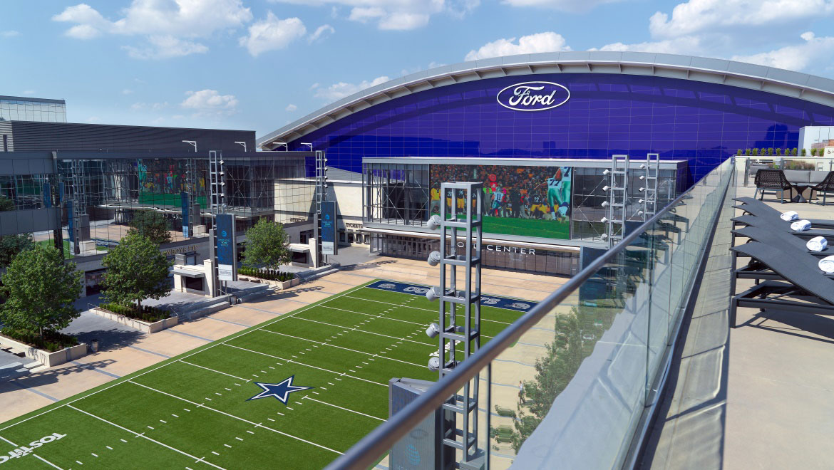 The Star Is World Headquarters Of Dallas Cowboys Located Just Adjacent To Omni Frisco 91 Acre Campus Features Ford Center An Entertainment