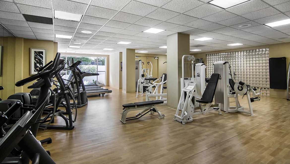 Dallas hotel with gym fitness center omni dallas at park west
