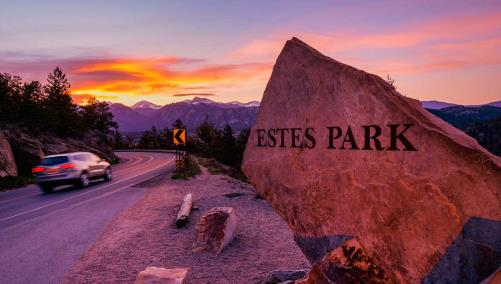 Estes Park Welcome Sign