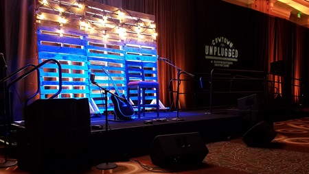 Stage at Cowtown Unplugged