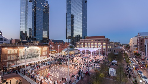 Sundance Square at night