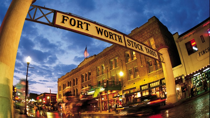 Fort Worth Stockyards street sign