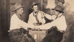 Cowboys gambling in the early 1900s