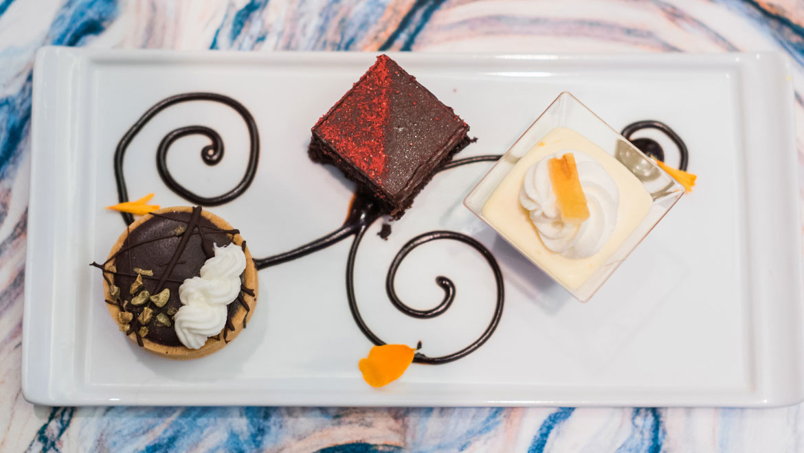 Wedding Guild Luncheon dessert plate