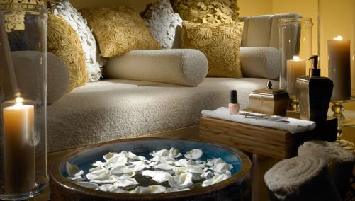Pedicure treatment at Fort Worth hotel spa