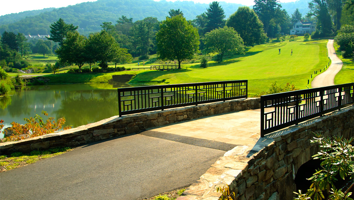 Bridge on Grove Park Inn golf course