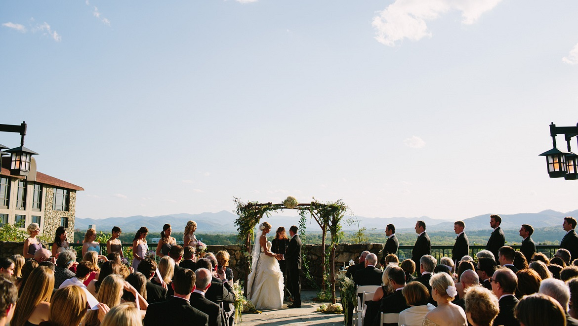 Say I Do with a Mountain Backdrop