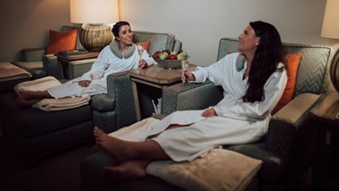 Ladies relaxing at Ocean Tides Spa