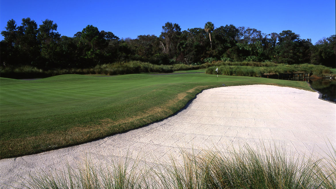 Golf course sand trap at Hilton Head Resort