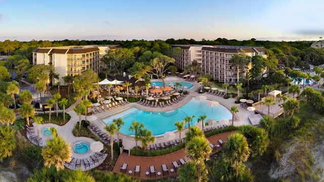 Aerial view of the Omni Hilton Head Oceanfront Resort