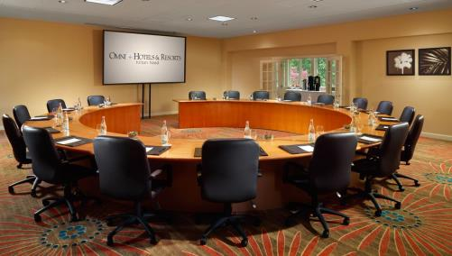 Savannah board room with fixed cirular seating