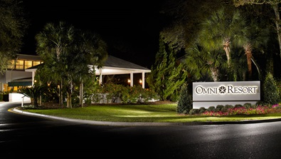 Omni Hilton Head resort front signage