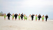 Wedding party on the beach at the Omni Hilton Head Oceanfront Resort