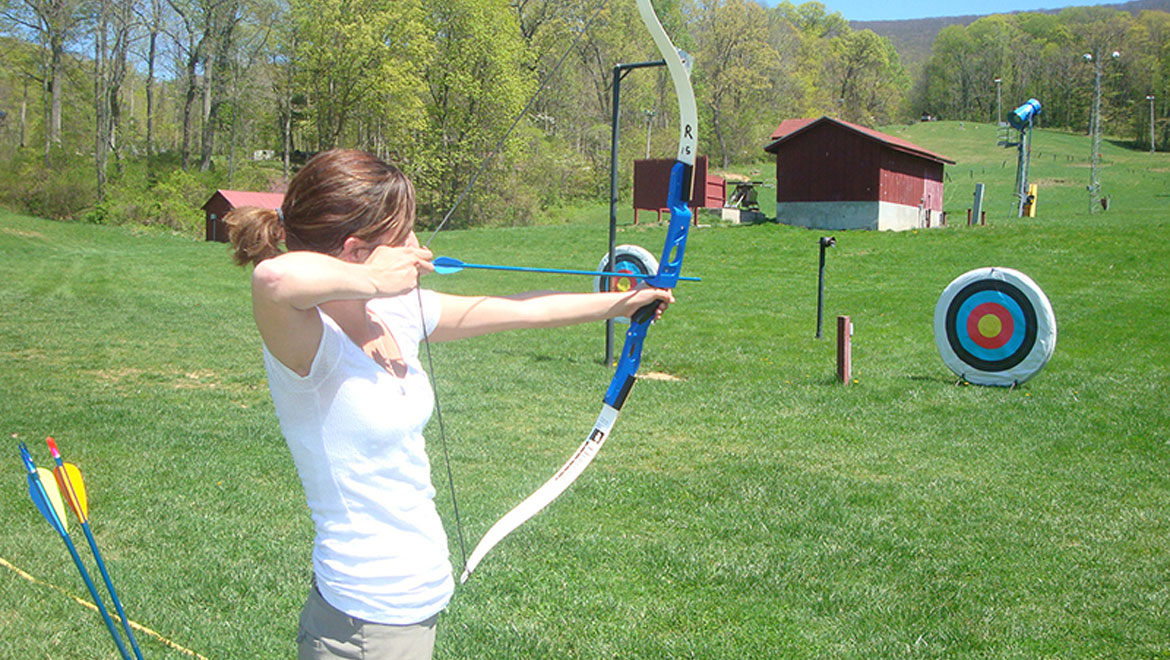 Archery practice at Homestead Resort